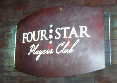 Four Star Players Club Interior Sign