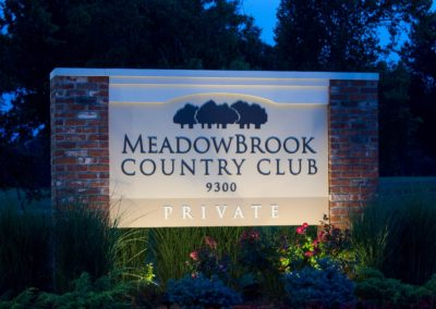 Meadowbrook Country Club Monument Sign