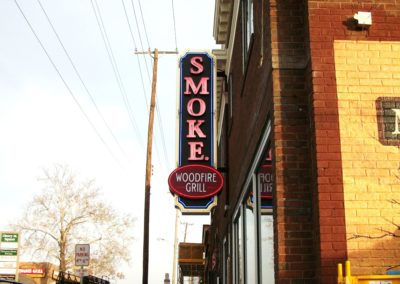 Smoke Projecting Blade Sign